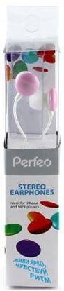 Изображение Perfeo наушники PRF-004 внутриканальные, розовые