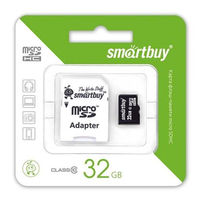 Изображение Micro SD Smart Buy 32GB( с адаптером SD)