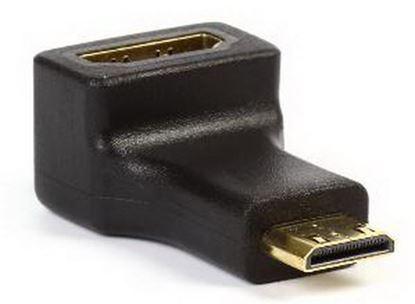 Изображение Адаптер Smartbuy mini HDMI M - HDMI F, угловой разъем (A117)
