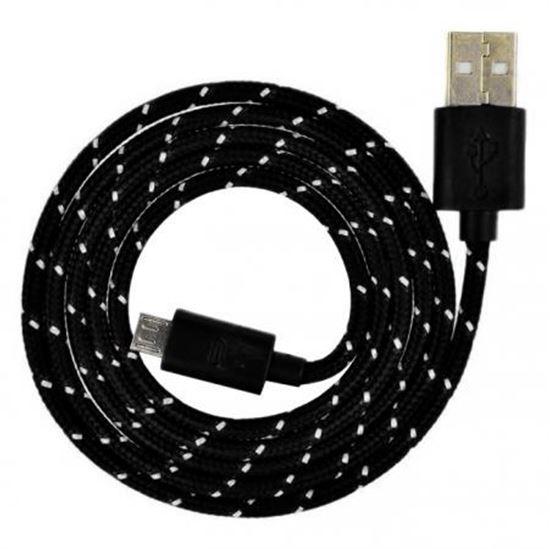 Изображение Дата-кабель Smartbuy USB - micro USB, нейлон, длина 1,2 м.