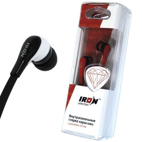 Изображение Нaушники IRON Selection Diamond вакуумные для MP3 H-105В (колба) красные