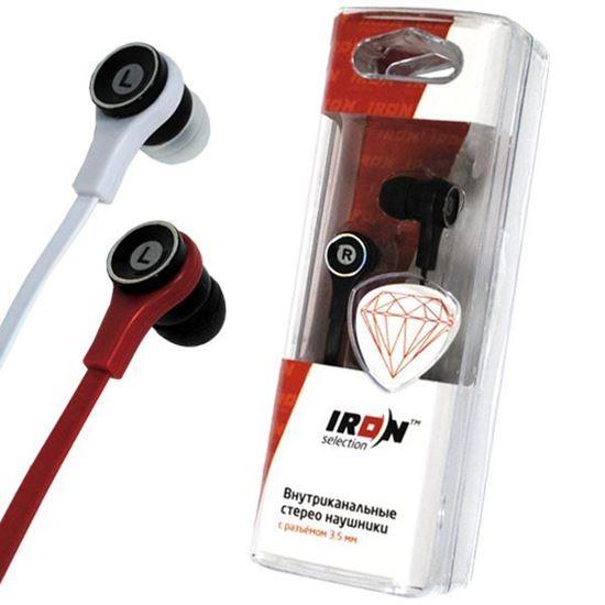Изображение Нaушники IRON Selection Diamond вакуумные для MP3 H-110С (колба) красные