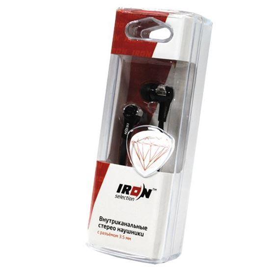 Изображение Нaушники IRON Selection Diamond вакуумные для MP3 H-111A (колба) чёрные