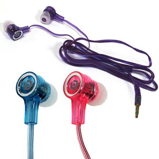 Изображение Наушники вакуумные Monster Beats № 1 (MP3, CD, iPod, iPhone) в пакете фиолетовые