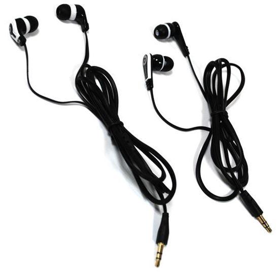 Изображение Наушники вакуумные Monster Beats № 7 (MP3, CD, iPod, iPhone) в пакете чёрно-белые