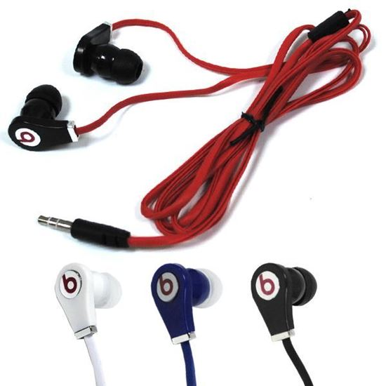 Изображение Наушники вакуумные Monster Beats № 9 (MP3, CD, iPod, iPhone) в пакете красные
