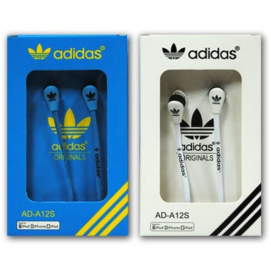 Изображение Наушники вакуумные Adidas AD-A12S (MP3, CD, iPod, iPhone, iPad) в коробке голубые