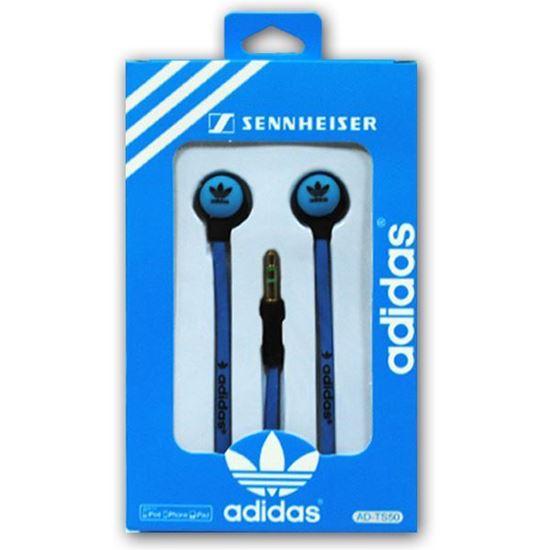 Изображение Наушники вакуумные Adidas AD-TS50 (MP3, CD, iPod, iPhone, iPad) в коробке голубые