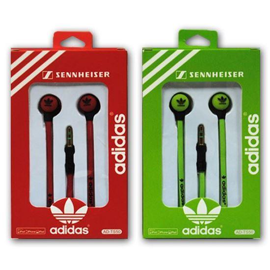 Изображение Наушники вакуумные Adidas AD-TS50 (MP3, CD, iPod, iPhone, iPad) в коробке красные