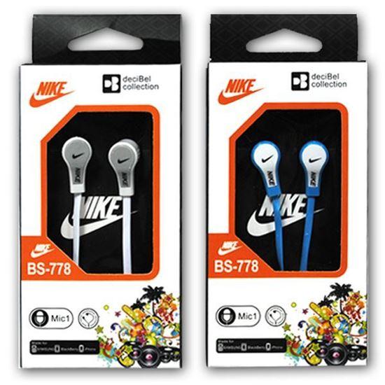 Изображение Наушники вакуумные Nike BS-778 (MP3, CD, iPod, iPhone, iPad) в коробке голубые