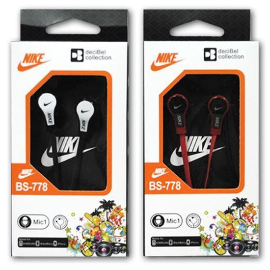 Изображение Наушники вакуумные Nike BS-778 (MP3, CD, iPod, iPhone, iPad) в коробке красные