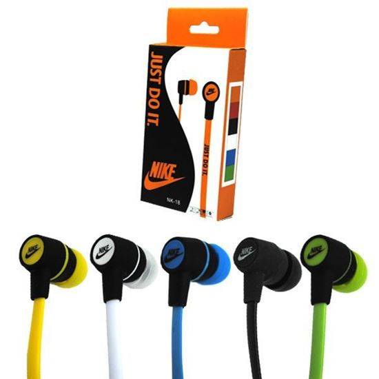 Изображение Наушники вакуумные Nike NK-18 (MP3, CD, iPod, iPhone, iPad) в коробке зелёные