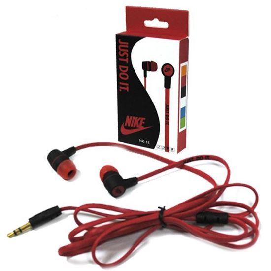 Изображение Наушники вакуумные Nike NK-18 (MP3, CD, iPod, iPhone, iPad) в коробке красные