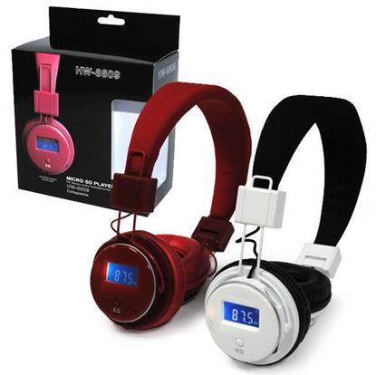 Изображение MP3 плеер-стереонаушники накладные HW-8809 (FM, TF MicroSD, дисплей)