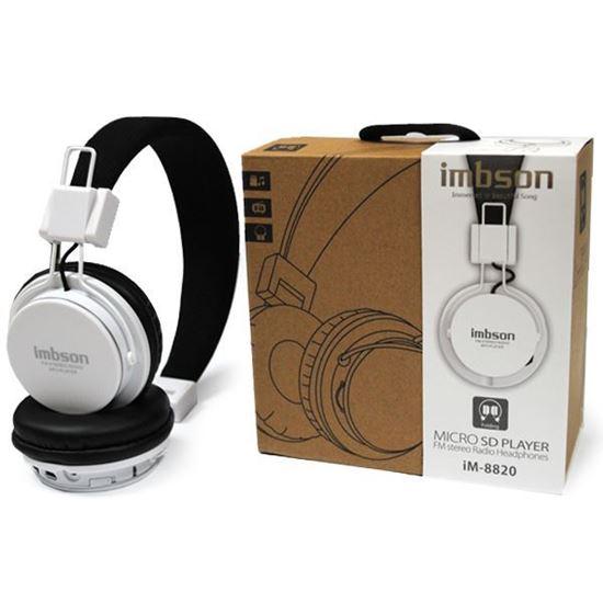Изображение MP3 плеер-стереонаушники накладные iMBSON iM-8820 (FM, TF MicroSD)