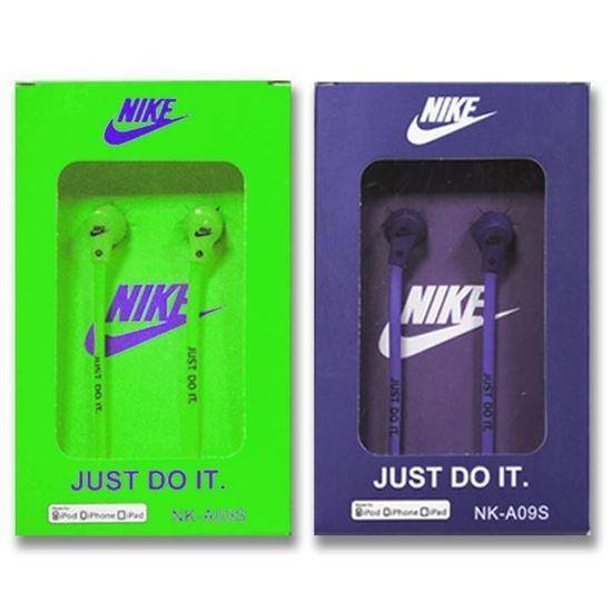 Изображение Наушники вакуумные Nike NK-A09S (MP3, CD, iPod, iPhone, iPad) в коробке зелёные