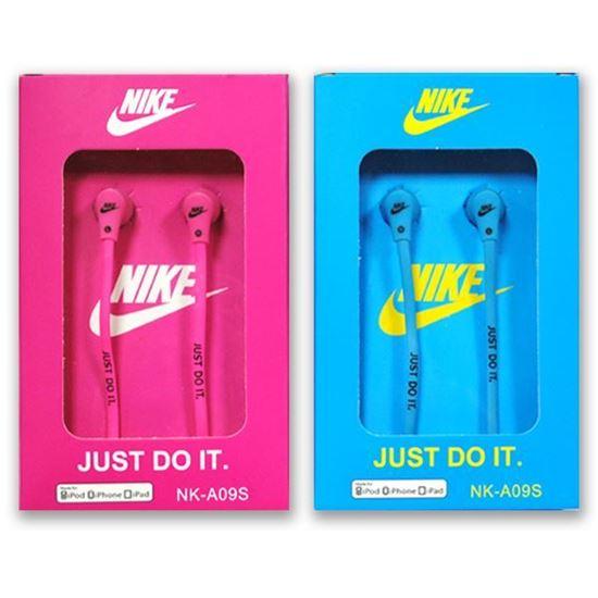 Изображение Наушники вакуумные Nike NK-A09S (MP3, CD, iPod, iPhone, iPad) в коробке розовые