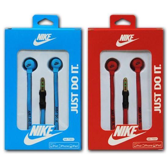 Изображение Наушники вакуумные Nike NK-TS51 (MP3, CD, iPod, iPhone, iPad) в коробке красные
