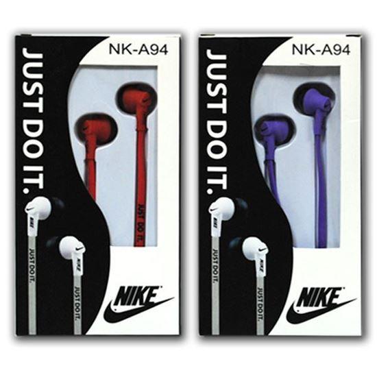 Изображение Наушники вакуумные Nike NK-А94 (MP3, CD, iPod, iPhone, iPad) в коробке красные