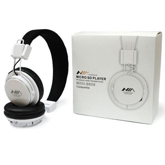 Изображение MP3 плеер-стереонаушники накладные NIA MRH-8809 (FM, TF MicroSD)
