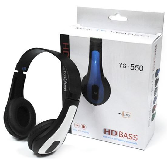 Изображение MP3 плеер-стереонаушники накладные YS-550 (FM, TF MicroSD)