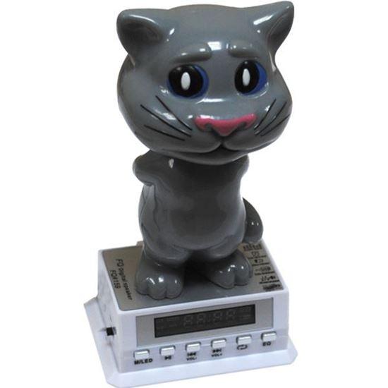 Изображение Колонка FQ-159 (3 Вт) - FM, USB/SD, з/у USB - Кот маленький серебристый
