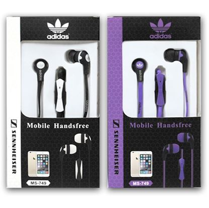 Изображение HF гарнитура вакуумная Adidas MS-749 (Pod, iPhone, Samsung) в коробочке
