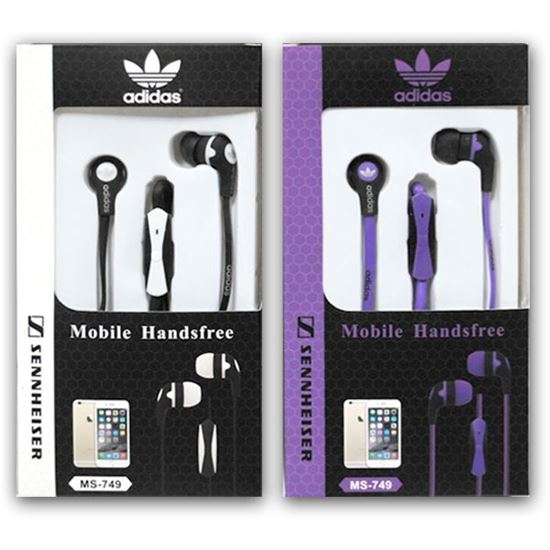 Изображение HF гарнитура вакуумная Adidas MS-749 (Pod, iPhone, Samsung) в коробочке