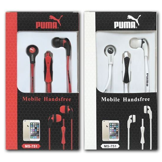 Изображение HF гарнитура вакуумная PUMA MS-751 (Pod, iPhone, Samsung) в коробочке