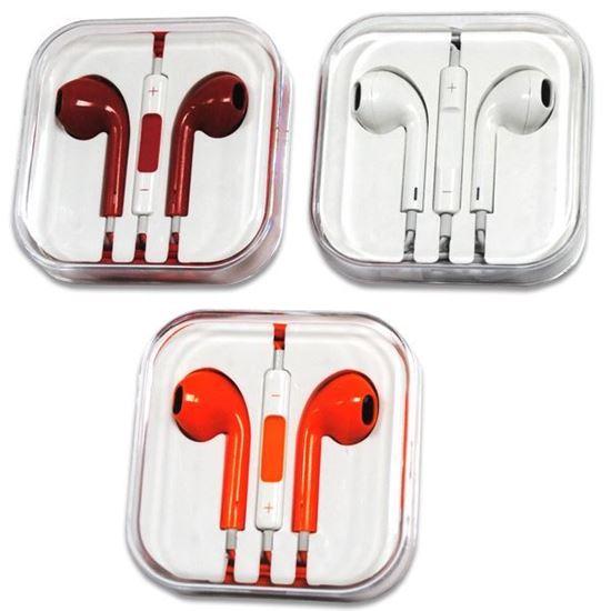 Изображение HF гарнитура под оригинал для iPhone 5/5S/5C в пластмассовой коробочке белая