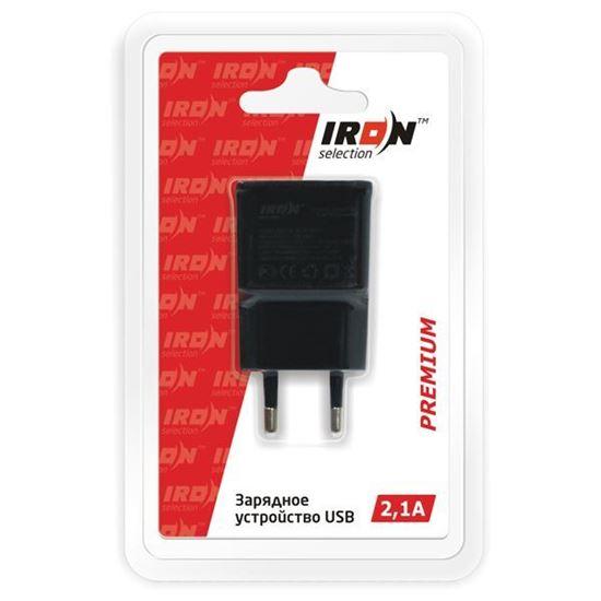 Изображение Сетевое з/у IRON Selection Premium (2.1 А) - адаптер USB