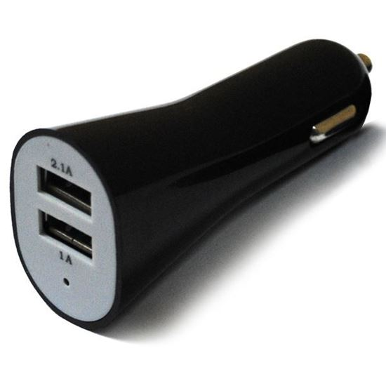 Изображение Автомобильный адаптер 2 USB в пакете IRON Selection чёрный (2,1А и 1А)