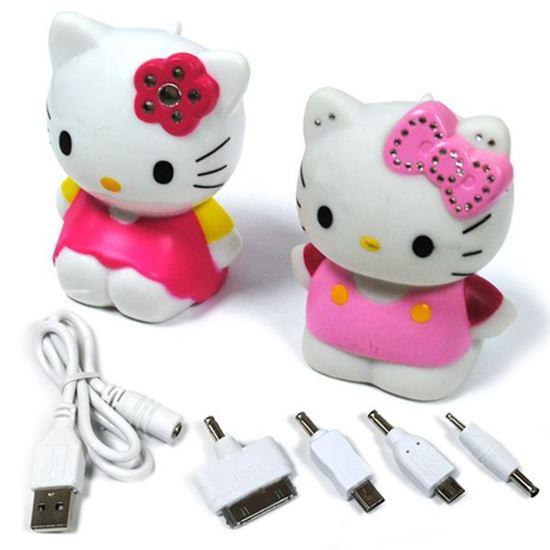 Изображение Портативное з/у - аккумулятор с переходниками Power Bank (1800 mAh) Kitty