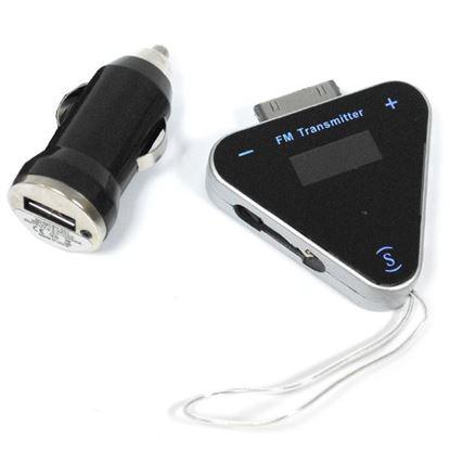 Изображение FM модулятор (FM-A12) пульт, microSD, AUX-выход, iPhone 4 выход (чтение трека)