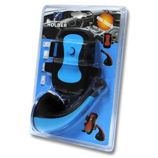 Изображение Автодержатель на шарнирной ножке кресло JS-002 чёрно-голубой