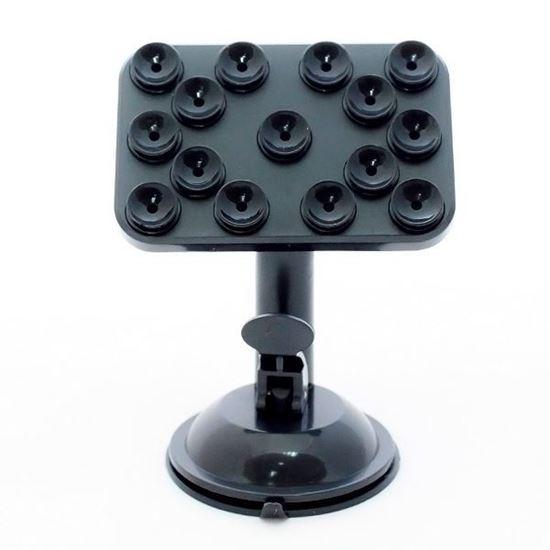 Изображение Автодержатель-присоска на ножке (15 присосок) чёрный в блистере