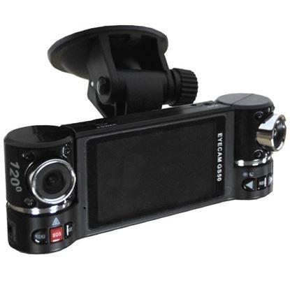 "Изображение Видеорегистратор GS-50 (2 камеры-1280х1440, LCD 2,7"" 16:9T, 5 Mp, G-Sensor, GPS)порт AV,слот microSD"