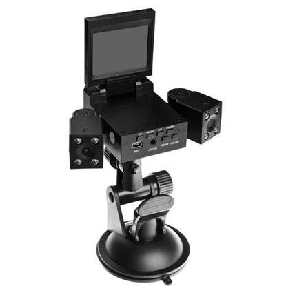 """Изображение Видеорегистратор H303 (2 камеры - 1280x480P, 2,0""""TFT LCD) AV порт, слот microSD"""