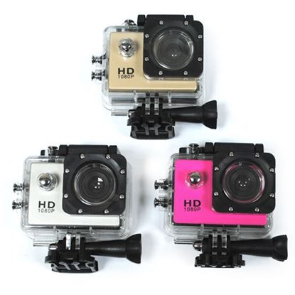 Изображение Камера Action SJ4000 (1920*1080, Full HD 1080р, 1,5-inch LCD) набор крепл. - серебристая