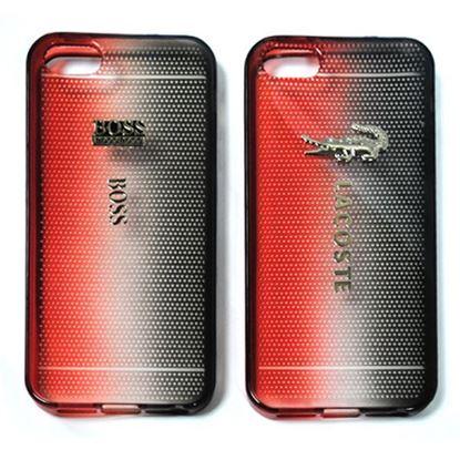 Изображение Задняя панель для iPhone 4/4S силиконовая Tiny Hole с логотипом Boss чёрно-красная