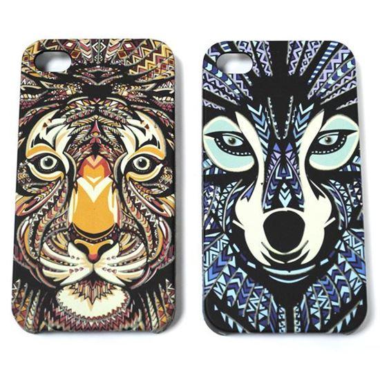 Изображение Задняя панель для iPhone 6 пластиковая прорезиненная Face Тигр