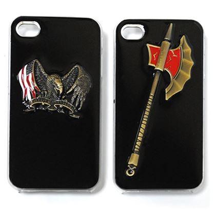 Изображение Задняя панель для iPhone 4/4S Military Style пластиковая чёрная Алебарда