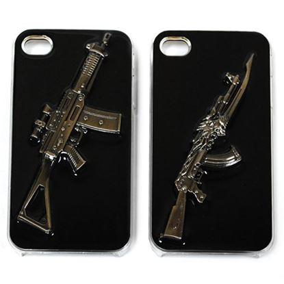 Изображение Задняя панель для iPhone 4/4S Military Style пластиковая чёрная Автомат № 1