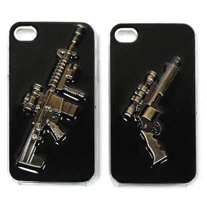 Изображение Задняя панель для iPhone 5/5S Military Style пластиковая чёрная Автомат № 2