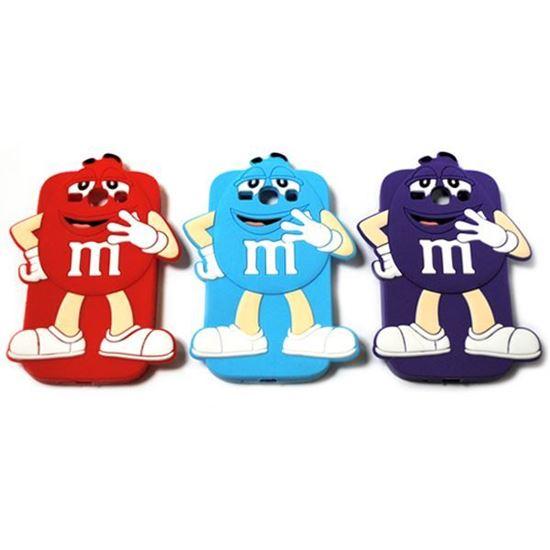 Изображение Задняя панель для iPhone 6 резиновая M&M's фиолетовый
