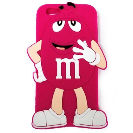 Изображение Задняя панель для iPhone 6 резиновая M&M's фуксия