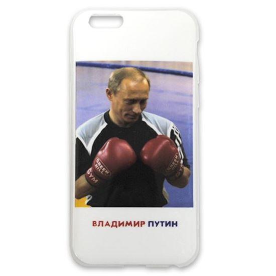Изображение Задняя панель для iPhone 6 силикон лаковый Владимир Путин № 4