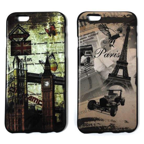 Изображение Задняя панель для iPhone 6 силикон лаковый Paris