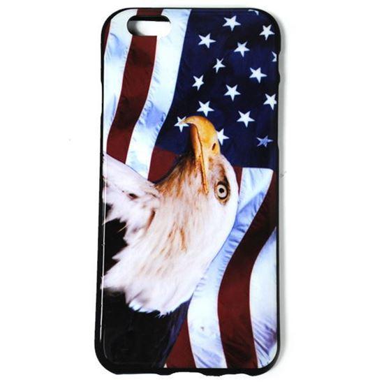Изображение Задняя панель для iPhone 6 силикон лаковый Флаг Америки с ястребом