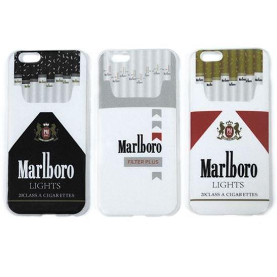 Изображение Задняя панель для iPhone 6 силикон лаковый Пачка сигарет Marlboro чёрно-белая